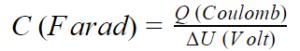 capacitance definition